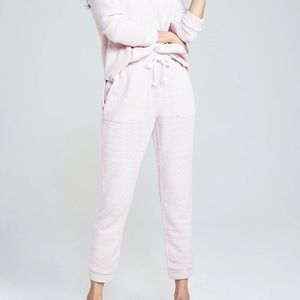 Faherty Seabrook Pink French Terry Jogger Pants